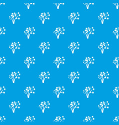 three spiky palm trees pattern seamless blue vector image vector image