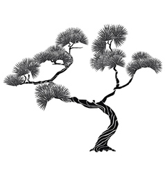 Tree pine silhouette vector