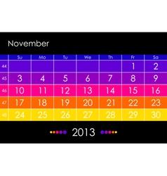 2013 November vector image