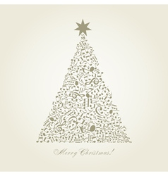 Musical christmas tree vector