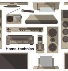 Home technics pattern vector