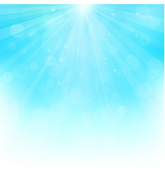 Sunny background with bokeh lights vector