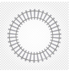 Isolated abstract grey color round shape railway vector
