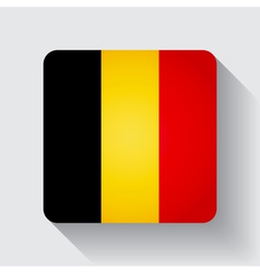 Web button with flag of belgium vector