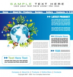 Environmental website template vector