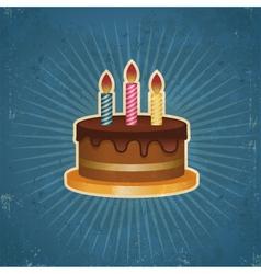 Retro birthday cake vector