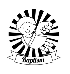 baptism invitation design vector image