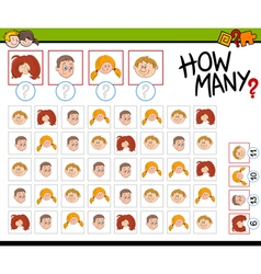 Preschool counting activity vector