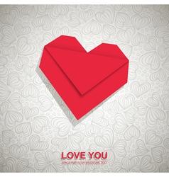Origami Heart vector image