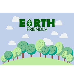 Earth friendly poster vector