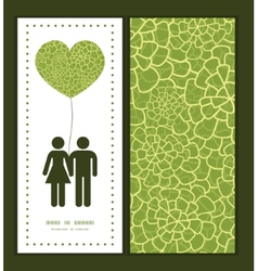 Abstract green natural texture couple in vector