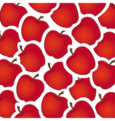 apple stickers pattern vector image vector image