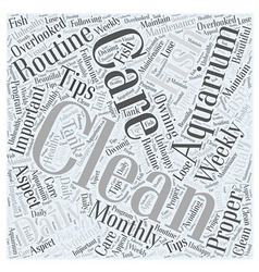 Aquarium care word cloud concept vector