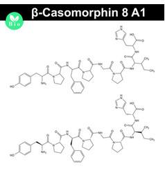 Beta casomorphin 5 molecular structure vector