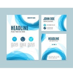 Blank brand set card vector
