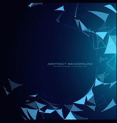 Blue technology background with abstract shapes vector