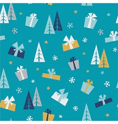 Christmas gifts - seamless pattern vector image