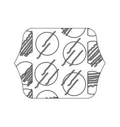 Edge quadrate with geometric graphic style vector