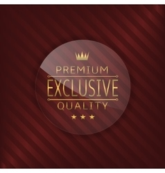 Exclusive glass label vector