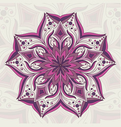 flower mandala detailed vector image vector image