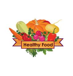 Healthy food sign food ingredient background vector