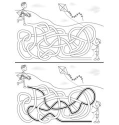 Kite maze vector image vector image