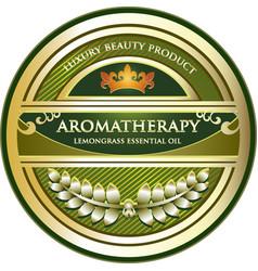Lemongrass essential oil vector