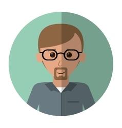 Man adult glasses leadership office work shadow vector