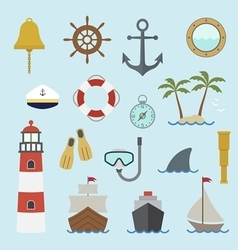 Marine and nautical icon vector image vector image