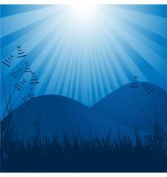 moonlit background vector image vector image