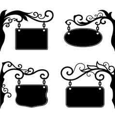 Ornate boards vector image vector image