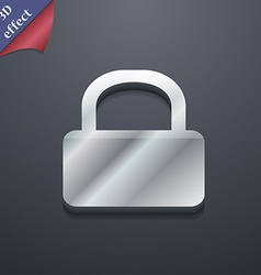 Pad lock icon symbol 3d style trendy modern design vector