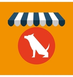 Pet shop with dog sitting vector
