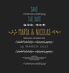 save the date vintage drawing frames to vector image vector image