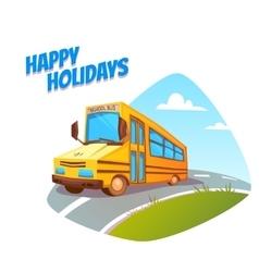 school bus on background vector image
