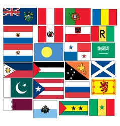 Set of 24 flags countries started with p q r s vector