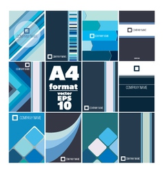set of folder A4 form vector image