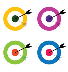 Target with arrow center set vector