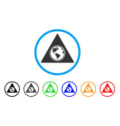 terra triangle rounded icon vector image vector image