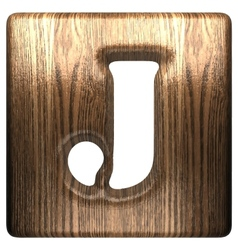 wooden figure j vector image vector image