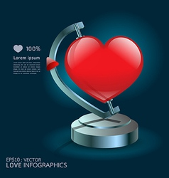 Modern design infographics love globe vector