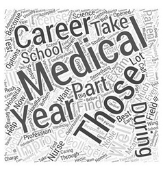 Medical career word cloud concept vector