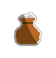bag diamonds stock vector image