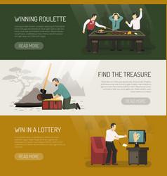 Gambling banners set vector