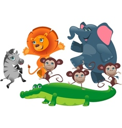 Party african animals vector