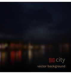 Blurred defocused lights of night city vector