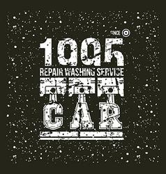 Car service emblem vector image