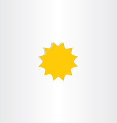 Star icon sunlight symbol design element vector
