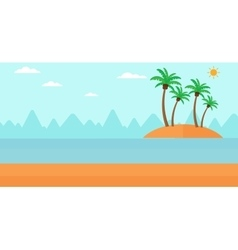 Background of small tropical island vector