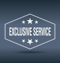 Exclusive service hexagonal white vintage retro vector